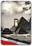 Ancient Egypt Pyramids Metal Switch Plate
