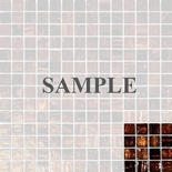 Sample Brown Iridescent Glass Mosaic Tile