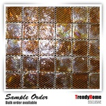 Iridescent Brown Glass Mosaic Tile