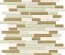 White Oak Marble Beige Brown Glass Blends Mosaic Tile