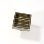 Brown Hand Painted Crystal Glass Brushed Nickel Square Perception Knob