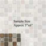 Sample Copper Insert Metallic Brown Glass Blends Mosaic Tile