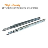 28 Inch Full Extension Ball Bearing Drawer Slides Kitchen Cabinet