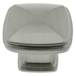 "1-1/4"" Inch Brushed Nickel Knob"