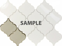 Sample Antique White Porcelain Moroccan Pattern Mosaic Tile