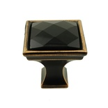 MultiFaceted Black Onyx Oil Rubbed Bronze Madison Classic Knob