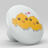 Cute Baby Chicken Ceramic Knob Nursery