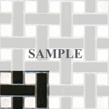 Sample Marble Black White Basket Weave Glass Blends Mosaic Tile