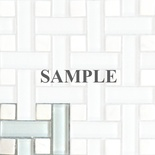 Sample White Basketweave Glass Stone Blends Mosaic Tile