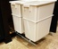 15 in. W x 22 in. D x 22 in. H Double 35 Qt. Pull-Out Bottom Mount Waste Container