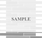 Sample Gray Frosted And Polish Glass Blends Mosaic Tile