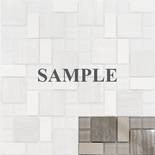 Sample White Oak Marble Gray Glass Blends Pattern Mosaic Tile