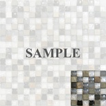 Sample Slate Stone Gray White Crackle Glass Blends Mosaic Tile