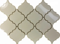 Antique White Porcelain Moroccan Pattern Mosaic Tile