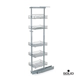 13-1/2 in. W x 19 in. D x 59 to 70 in. H 5-Basket Adjustable Pull-Out Tall Cabinet Pantry Organizer