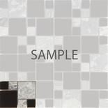 Sample Gray Natural Stone Chrome Metal Blends Mosaic Tile