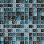 Blue Crackle Glass Blends Mosaic Tile