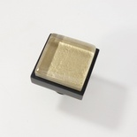 Metallic Brown Tan Crystal Glass Black Metal Square Perception Knob