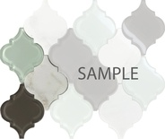 Sample Glass Stone Blend Arabesque Moroccan Pattern Mosaic Tile