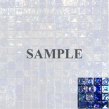 Sample Blue Iridescent Glass Mosaic Tile