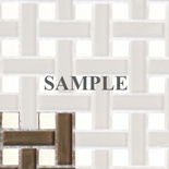 Sample Brown Basketweave Glass Stone Blends Mosaic Tile