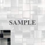 Sample Hand Brushed Black Glass Blends Pattern Mosaic Tile