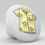 Tropical Floral Hawaii Shirt Ceramic Knob Design 8