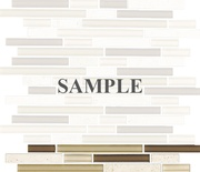 Sample Tuscany Travertine Brown Beige Glass Blends Mosaic Tile