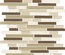 Tuscany Travertine Brown Beige Glass Blends Mosaic Tile