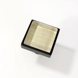 Beige Back Hand Paint Crystal Glass Black Metal Square Perception Knob