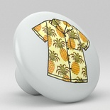 Tropical Floral Hawaii Shirt Ceramic Knob Design 16