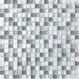 Arabescato Carara Marble Gray White Glass Blends Mosaic Tile