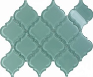 Blue Arabesque Moroccan Pattern Glass Mosaic Tile