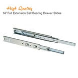 14 Inch Full Extension Ball Bearing Drawer Slides Kitchen Cabinet