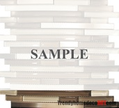 Sample Stainless Steel Brown Cream Beige Glass Blends Mosaic Tile
