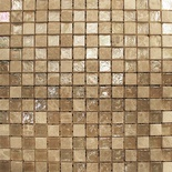 Brown Iridescent Glass Emperador Cafe Marble Blends Mosaic Tile