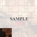 Sample Copper Metal Pattern Texture Glass Mosaic Tile