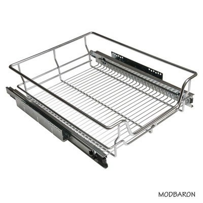 34 in. W x 16 in. D x 6-3/4 in. H Heavy Duty Soft Close Concealed Slide Pull-Out Wire Basket
