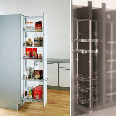 9-1/2 in. W x 19 in. D x 59 to 70 in. H 5-Basket Adjustable Pull-Out Tall Cabinet Pantry Organizer