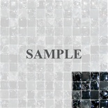Sample Black Crackle Polish And Frosted Glass Blends Mosaic Tile