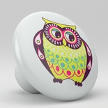 Owls Whimsical Retro Ceramic Knob Design 3