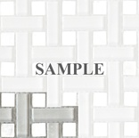 Sample White Gray Basketweave Glass Stone Blends Mosaic Tile
