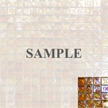 Sample Golden Brown Orange Blends Iridescent Glass Mosaic Tile