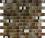 Brown Iridescent Glass Mosaic Tile