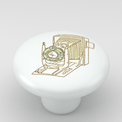 Camera Classic Ceramic Knob Vanity Design 2