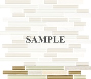 Sample White Oak Marble Beige Brown Glass Blends Mosaic Tile