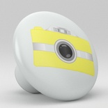 Yellow Camera Photographic Retro Ceramic Knob