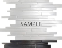 Sample Rustic Industrial Style Stainless Steel Linear Mosaic Tile