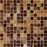 Grand Canyon Brown Iridescent Glass Blends Mosaic Tile