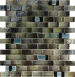 Green Iridescent Glass Mosaic Tile